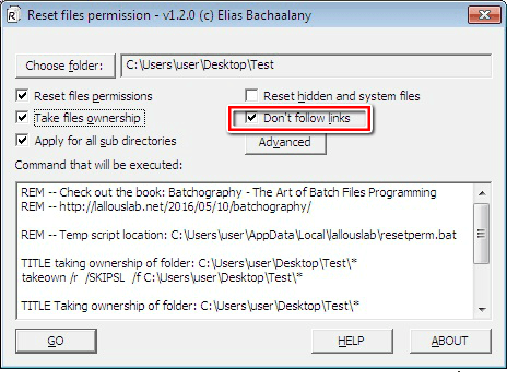 How to Reset NTFS Permissions of Files and Folders using a tool