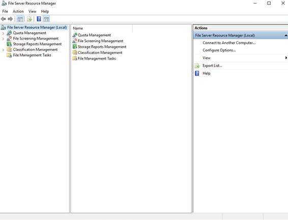 Quota Management in Windows Server 2016
